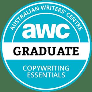 Australian Writers' Centre Copywriting Essentials graduate badge