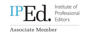 Institute of Professional Editors (IPEd) Associate Member banner